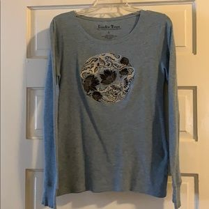 Lucky Brand LS Thermal Top Blue L